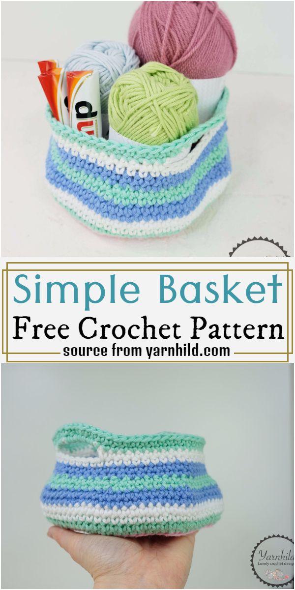 Simple Basket Crochet Pattern