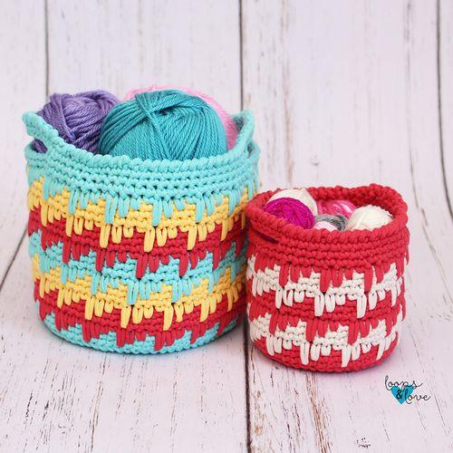 Spike Stitch Baskets