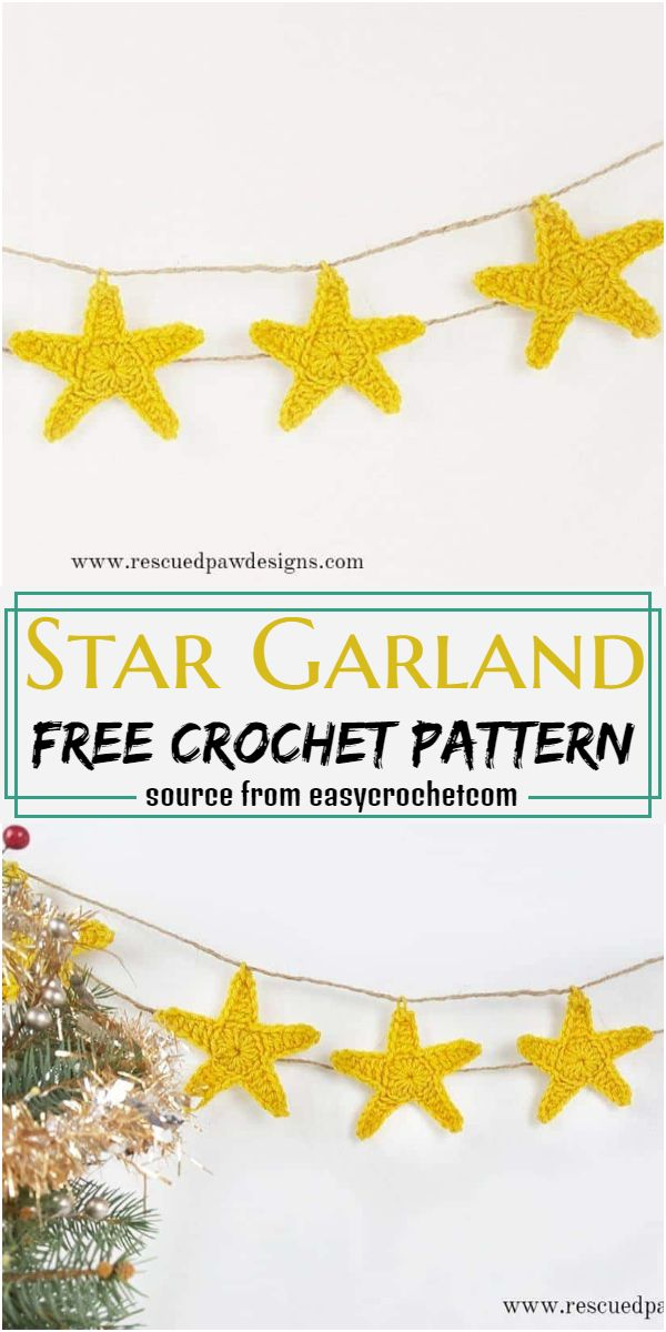 Star Garland Crochet Pattern