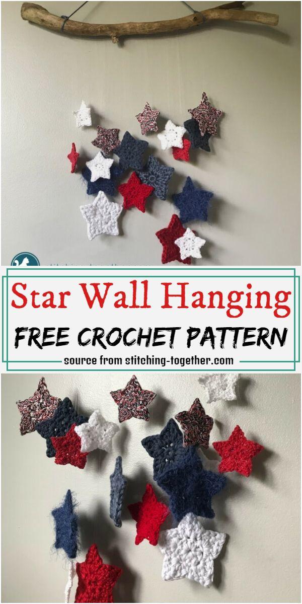 Star Wall Hanging Crochet Pattern