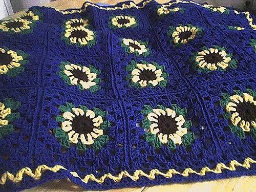 Sunflower Lap-Ghan Crochet Pattern