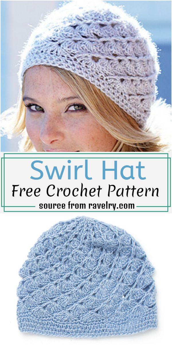 Swirl Hat Crochet Pattern