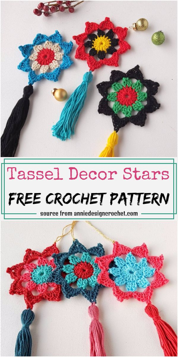 Tassel Decor Stars Crochet Pattern