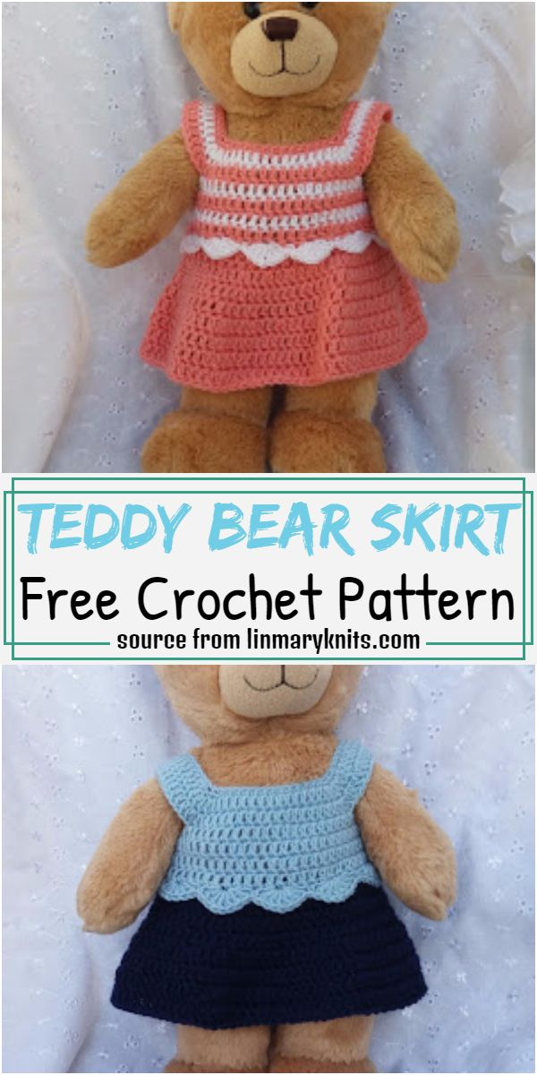 Teddy Bear Skirt Crochet Pattern