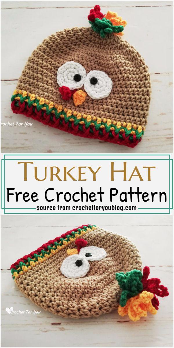 Turkey Hat Crochet Pattern