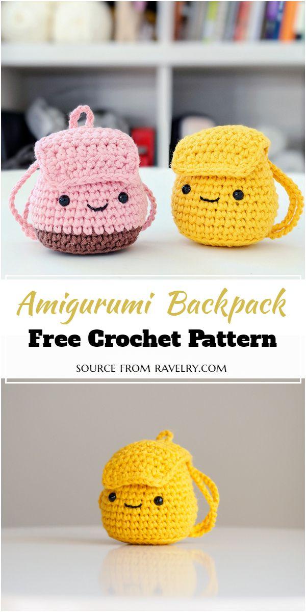 Amigurumi Crochet Backpack Pattern