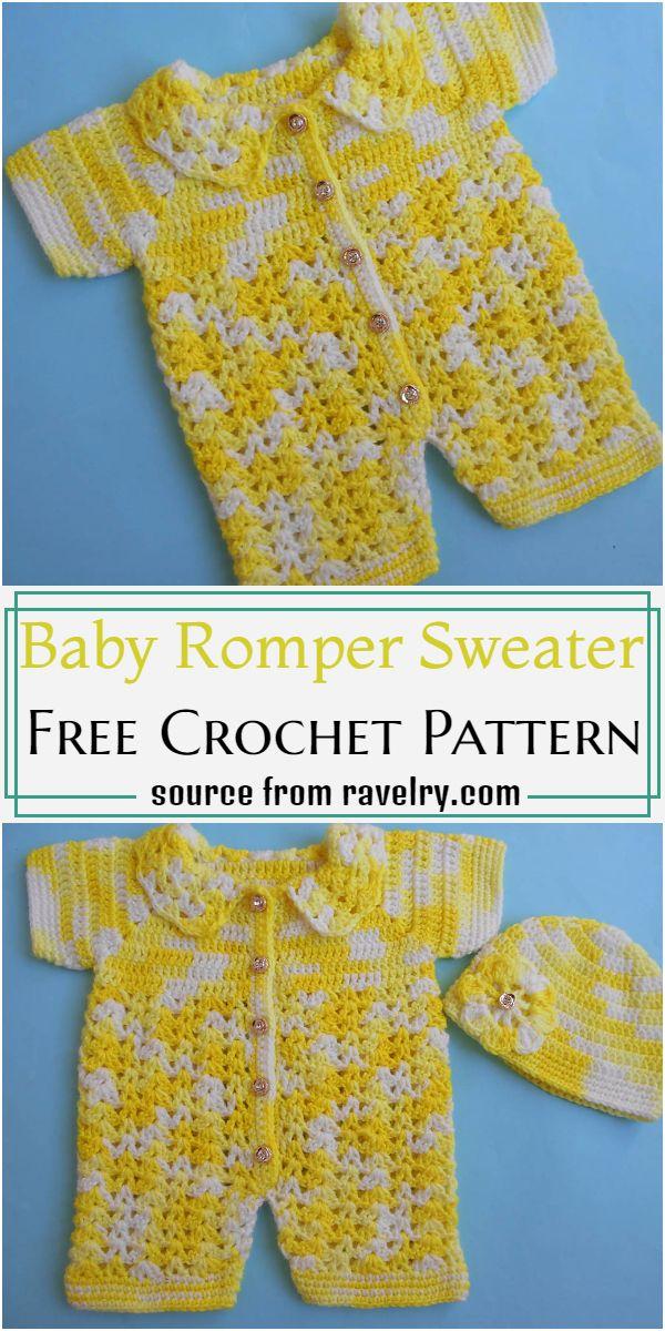 Baby Romper Sweater Crochet Pattern