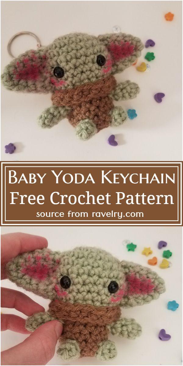Baby Yoda Crochet Keychain Pattern