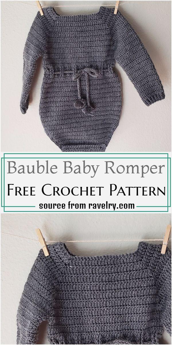 Bauble Baby Romper Crochet Pattern