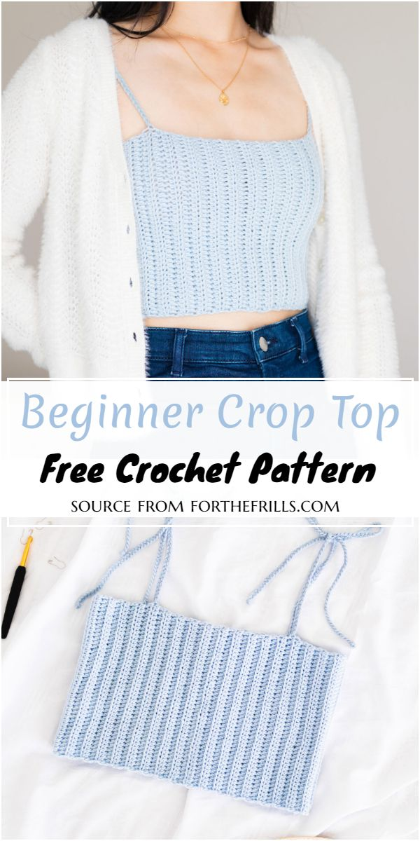 Beginner Crochet Crop Top Free Pattern