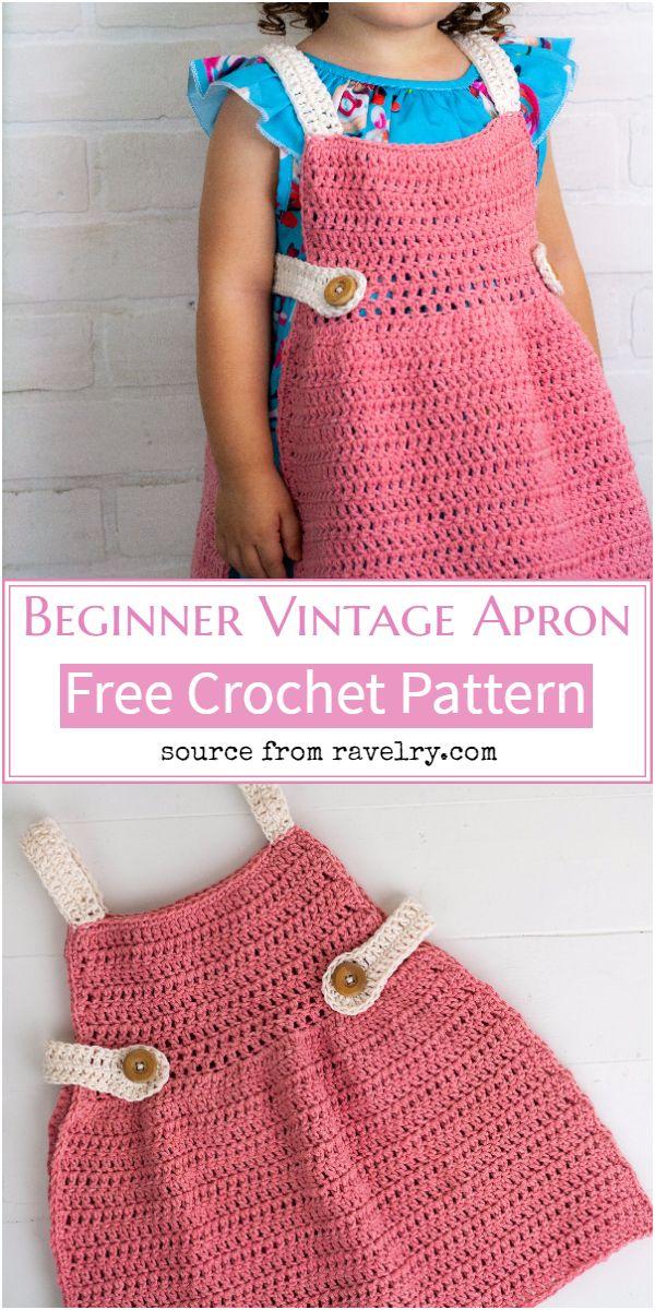 Beginner Vintage Crochet Apron Pattern