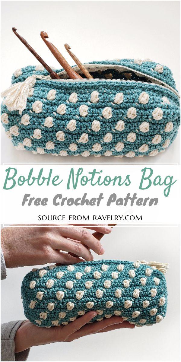 Bobble Notions Crochet Bag Pattern