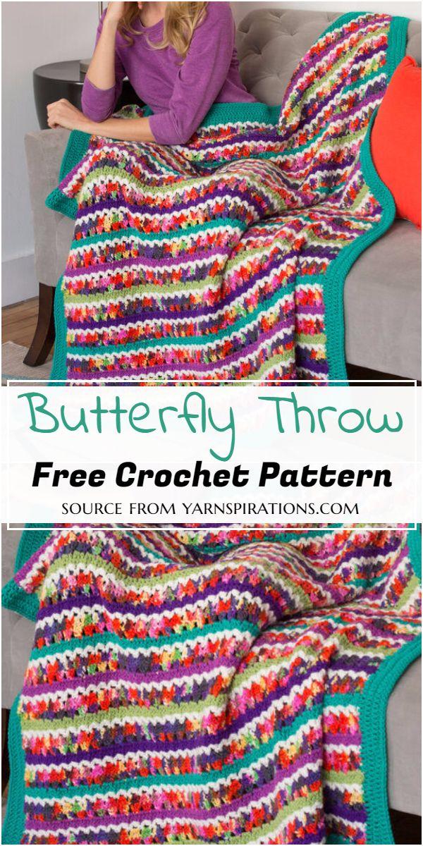 Butterfly Throw Crochet Pattern