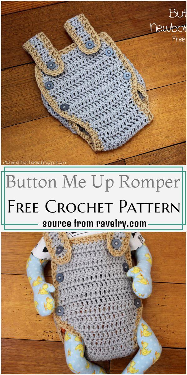 Button Me Up Romper Crochet Pattern