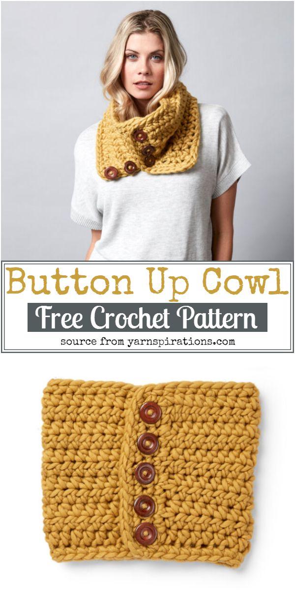 Button Up Crochet Cowl Pattern