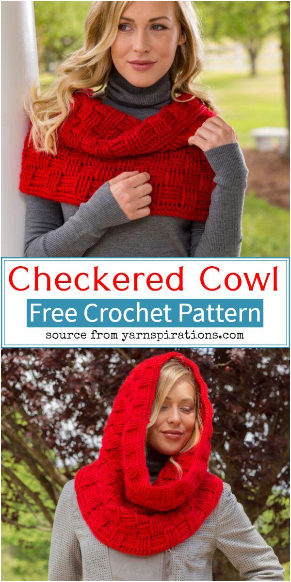 Checkered Crochet Cowl Pattern