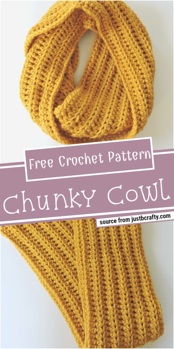 Chunky Crochet Cowl Free Pattern