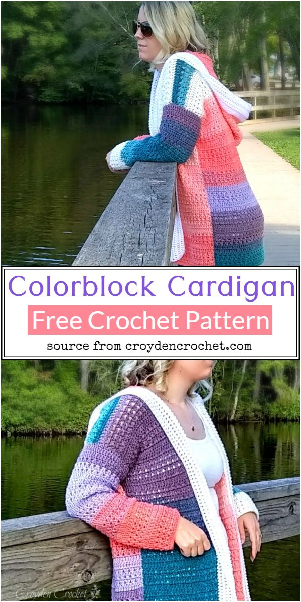 Colorblock Crochet Cardigan Pattern