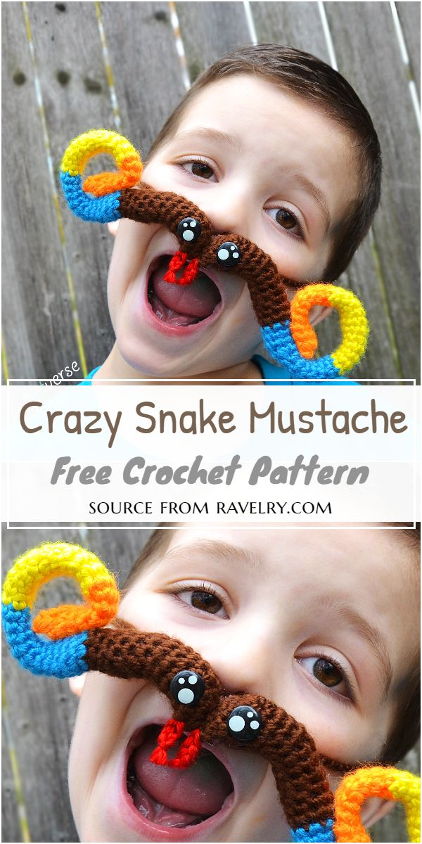 Crazy Mustache Pattern