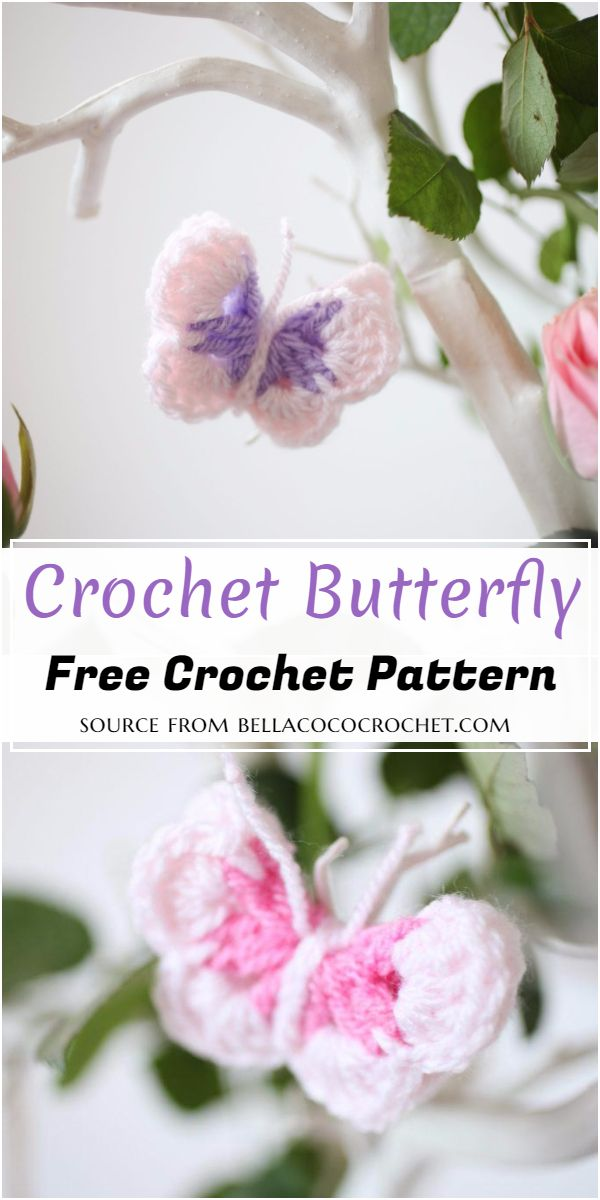 Crochet Butterfly Free Pattern