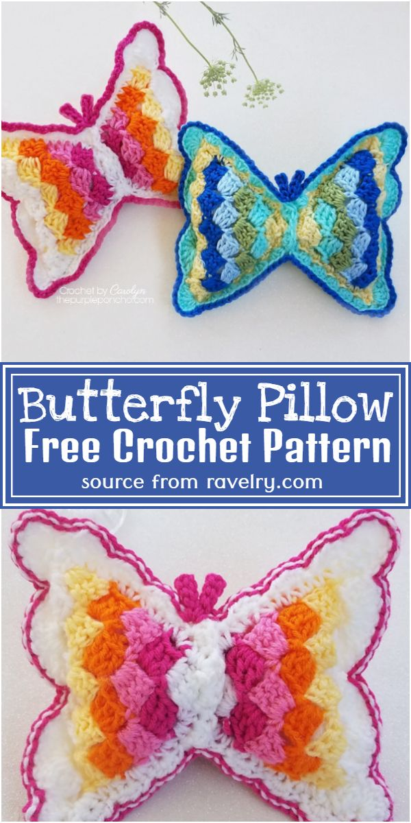Crochet Butterfly Pillow Free Pattern
