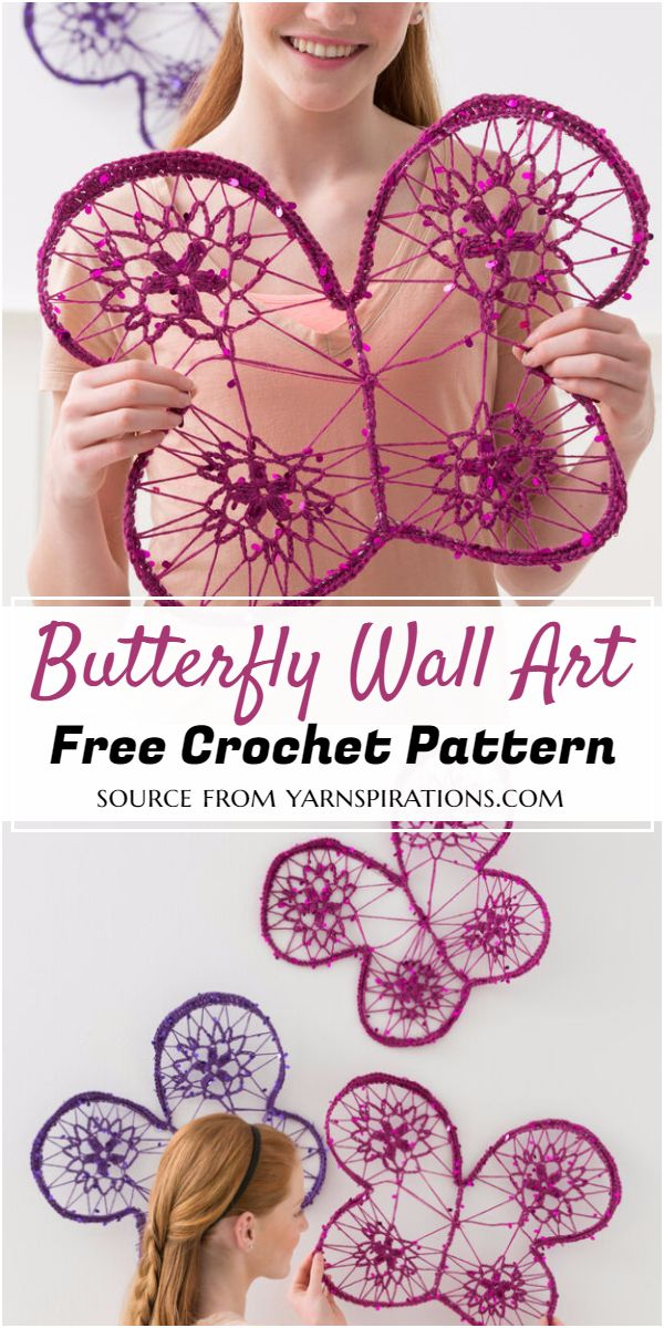 Crochet Butterfly Wall Art Pattern