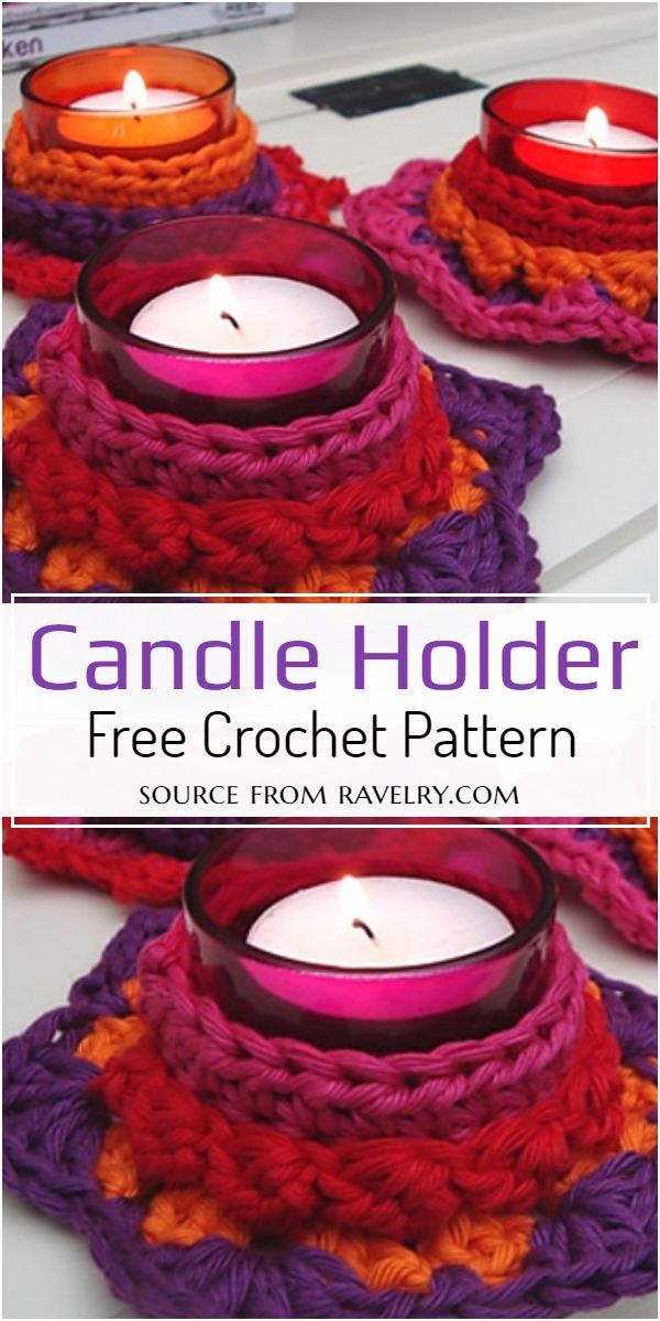 Crochet Candle Holder Free Pattern