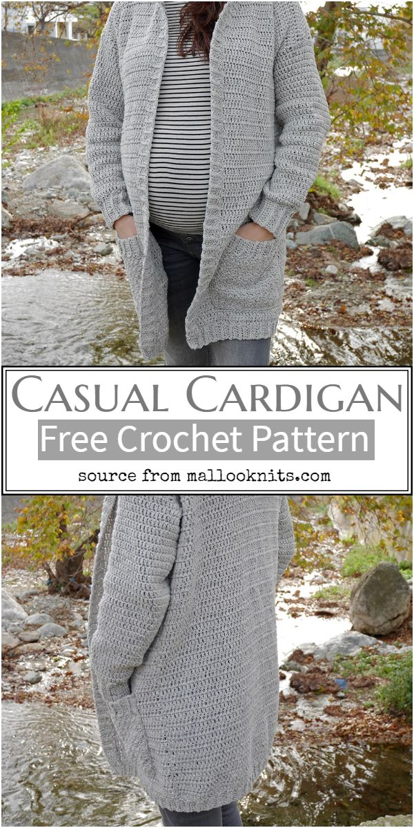 Crochet Casual Cardigan Free Pattern