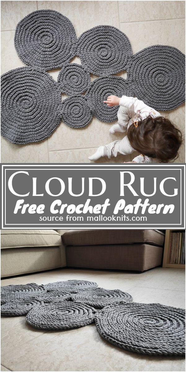 Crochet Cloud Rug Free Pattern