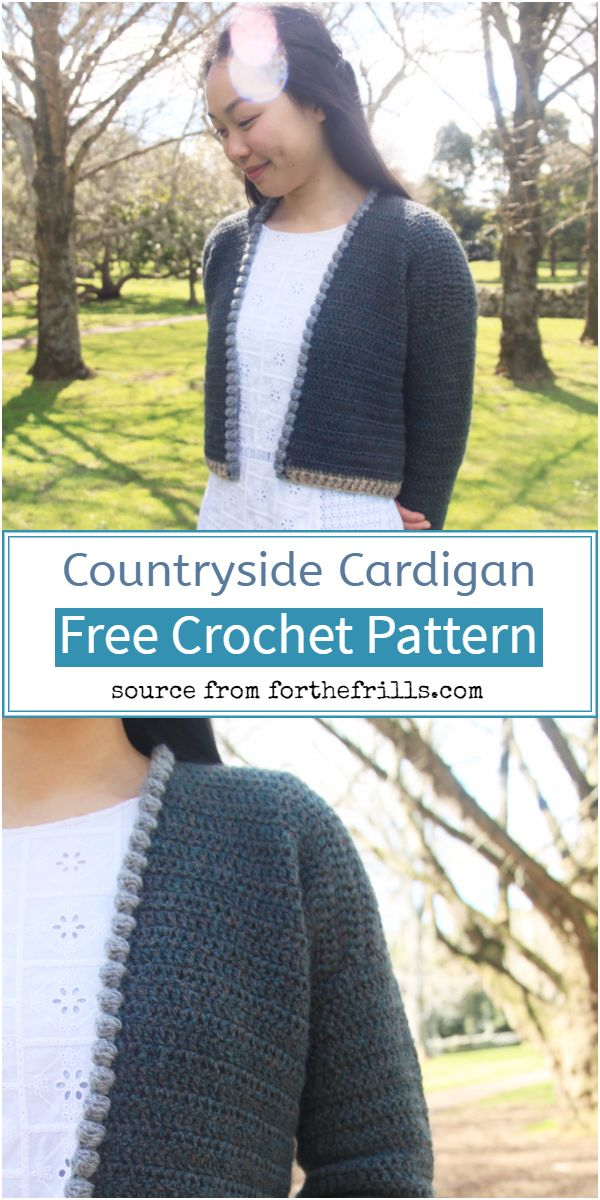 Crochet Countryside Cardigan Free Pattern
