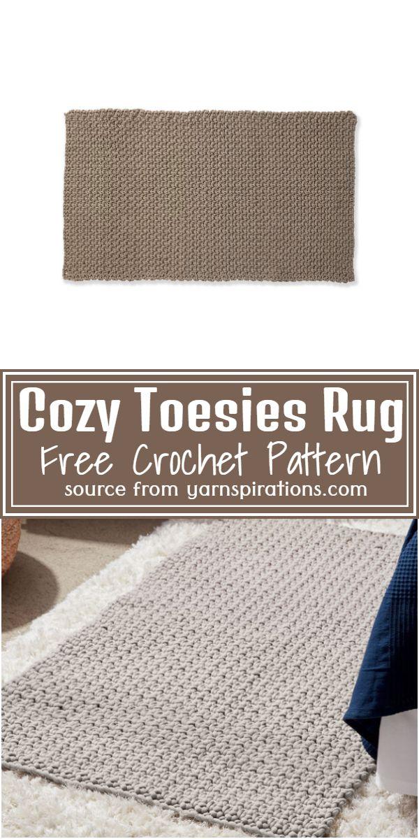 Crochet Cozy Toesies Rug Pattern