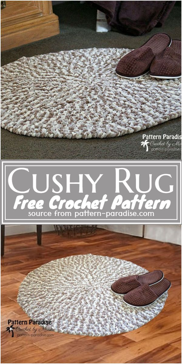 Crochet Cushy Rug Free Pattern