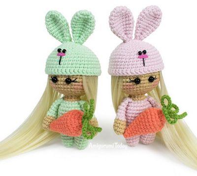 Crochet Doll Bunny Free Pattern
