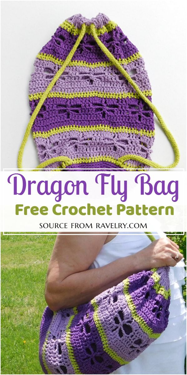 Crochet Dragon Fly Bag Pattern