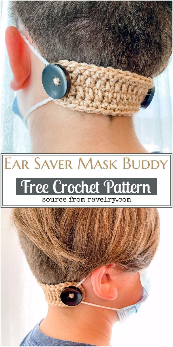 Crochet Ear Saver Mask Buddy Pattern