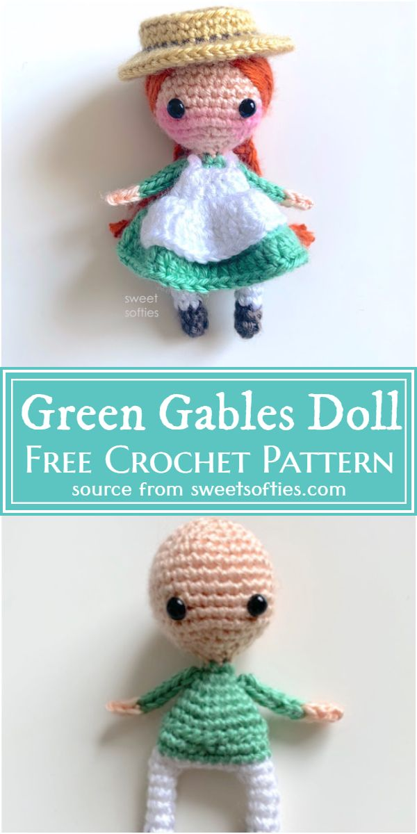 Crochet Green Gables Amigurumi Doll Pattern
