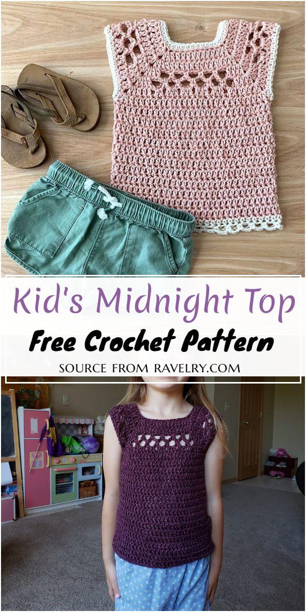 Crochet Kid's Midnight Top Pattern