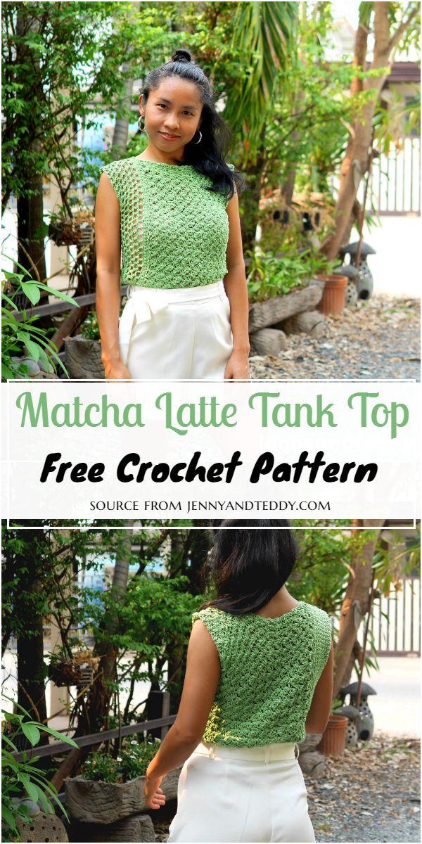 Crochet Matcha Latte Tank Top