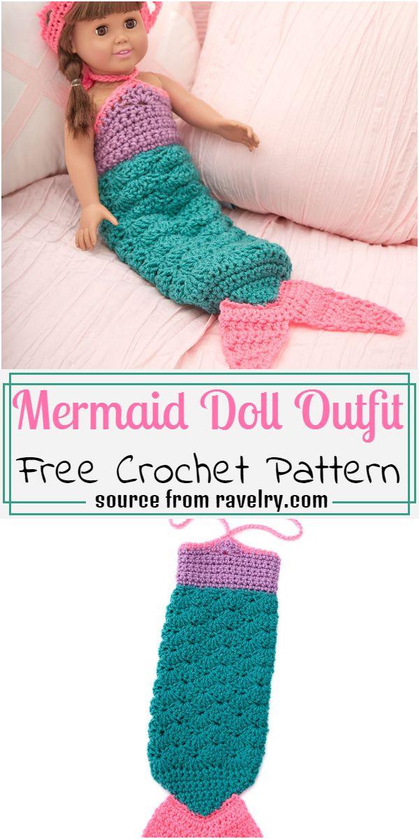 Crochet Mermaid Outfit Pattern