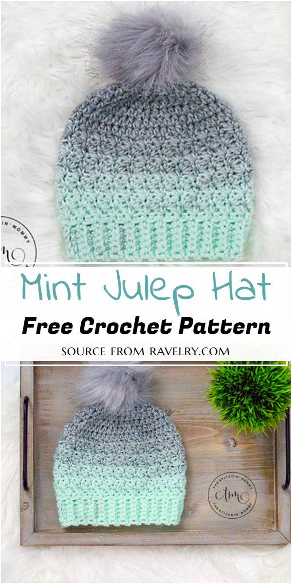 Crochet Mint Julep Hat Pattern