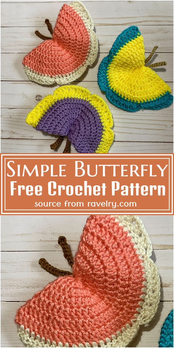 Crochet Simple Butterfly Pattern