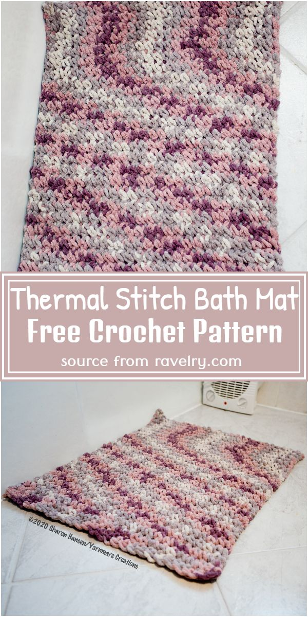 Thermal Stitch Bath Pattern