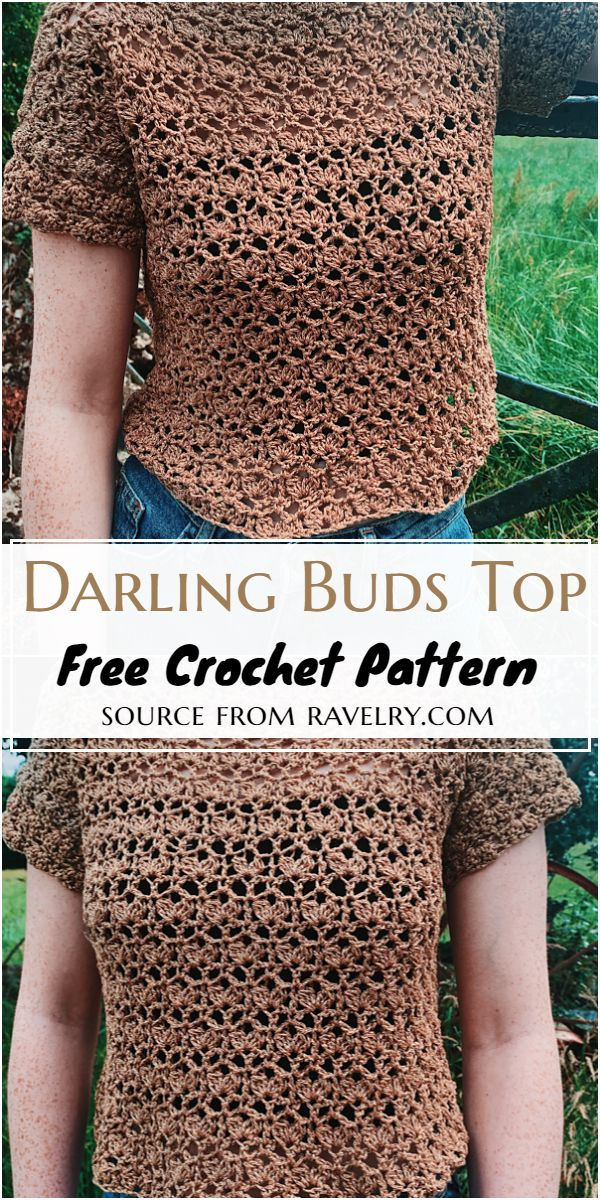 Darling Buds Top Crochet Pattern