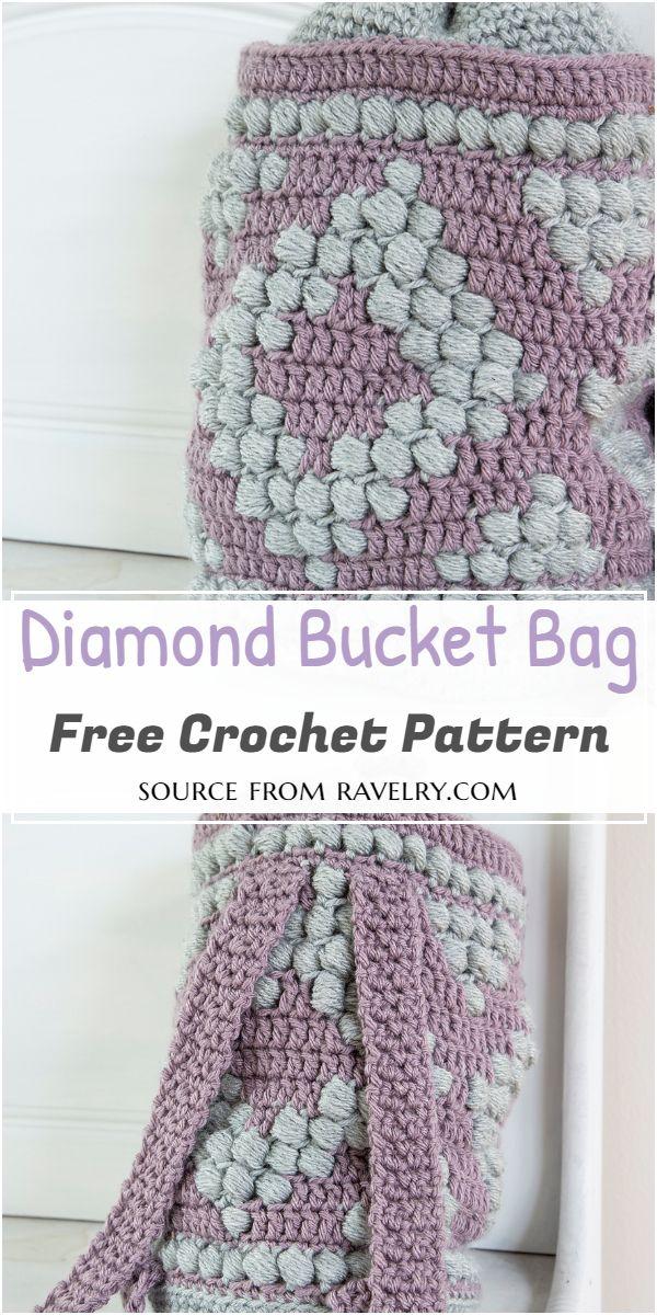 Diamond Bucket Bag Crochet Pattern