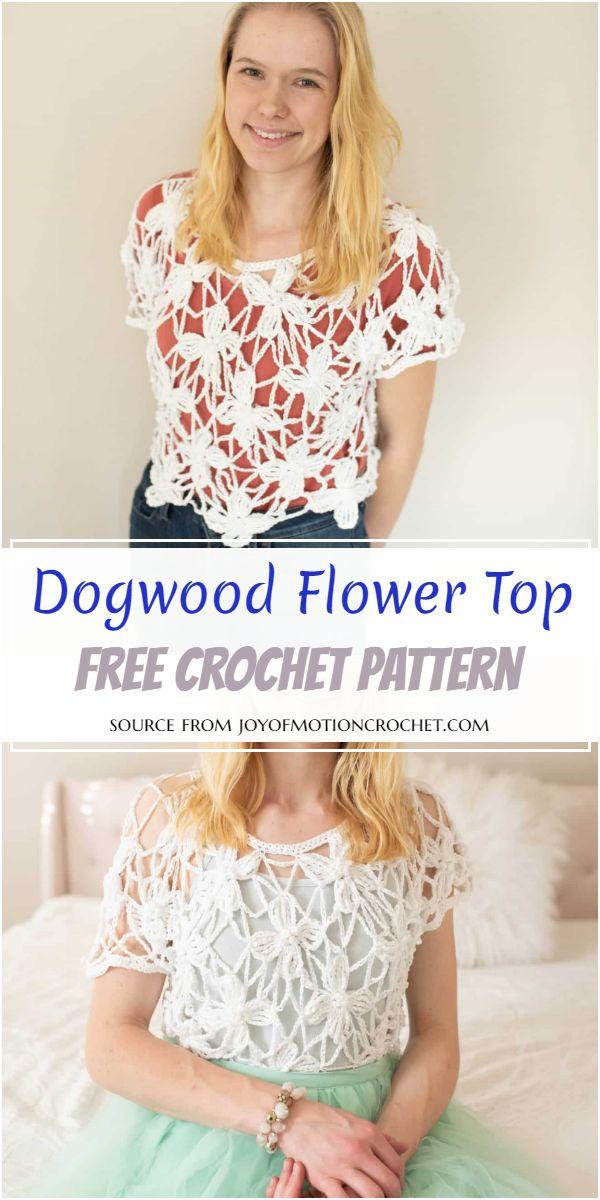 Dogwood Flower Crochet Top Pattern