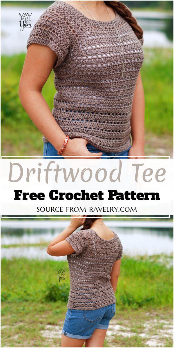 Driftwood Tee Crochet Pattern