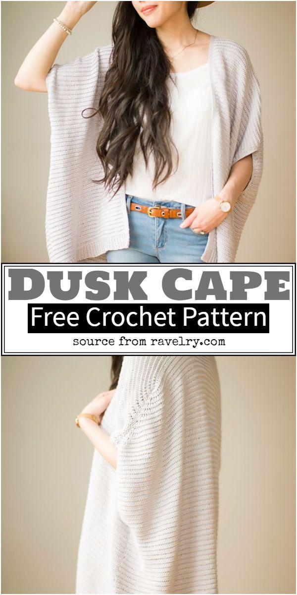 Dusk Cape Crochet Pattern
