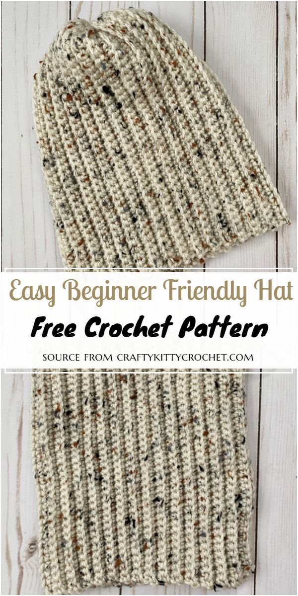 Easy Beginner Friendly Crochet Hat Pattern