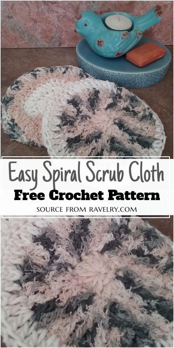 Easy Spiral Crochet Scrub Cloth Pattern
