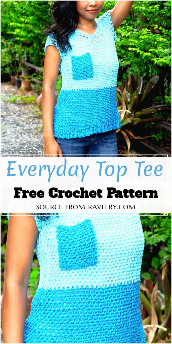 Everyday Top Crochet Tee Pattern